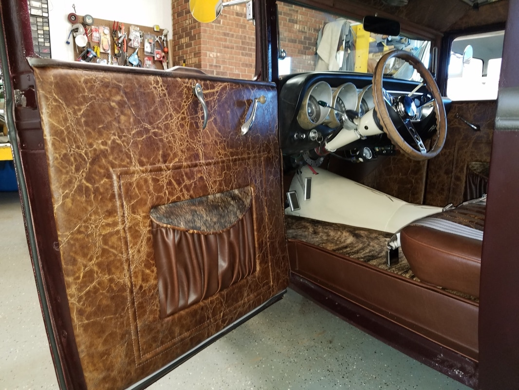 1930 Ford Rat Rod Custom Interior Completed Allen Carswells Pro Fuse Box Drivers Side Door Panelview Into